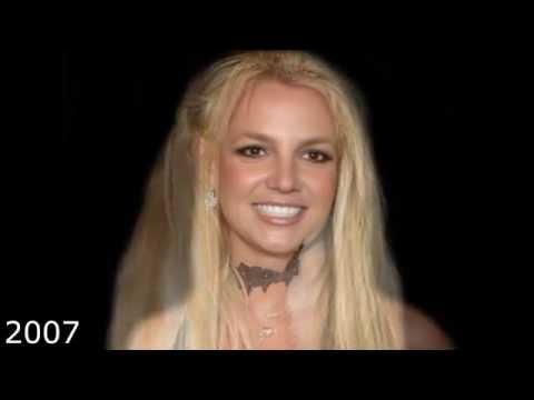 Britney Spears Face Morph (1981 - 2014)