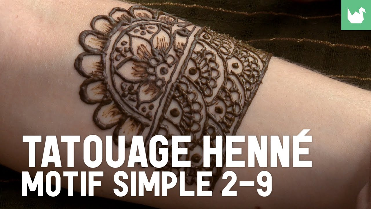 Tatouage henn motif simple 2 9 tatouage au henn youtube - Henne simple main ...