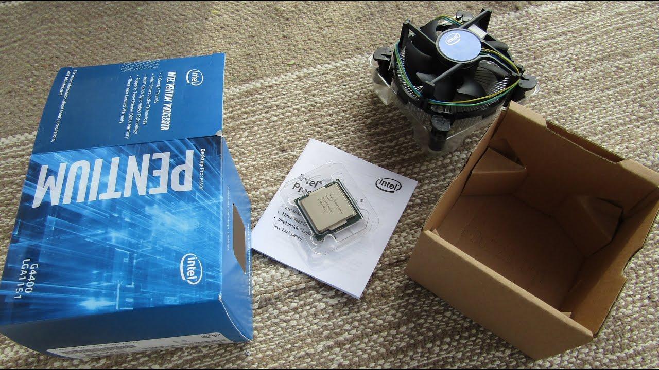 Intel Skylake Pentium G4400 Unboxing - YouTube