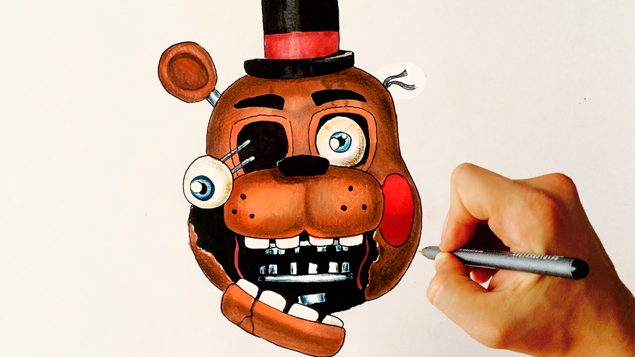 Withered toy freddy fnaf how to draw youtube