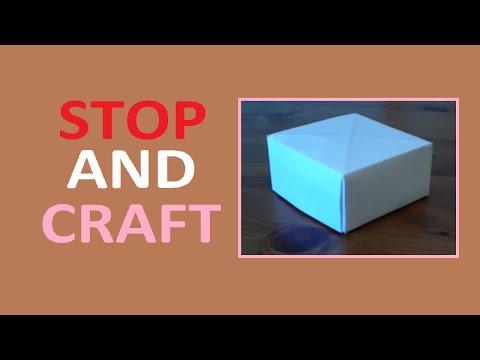 How to Make a Paper Box no Glue Needed!
