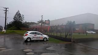 Telhado cai na Metalúrgica Hame em Jaraguá do Sul