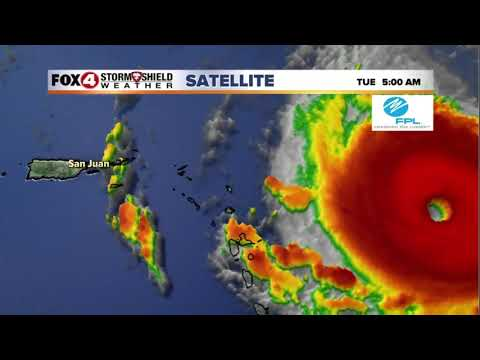 Copy of LIVE : Hurricane IRMA Tracking now a Category 5 Storm