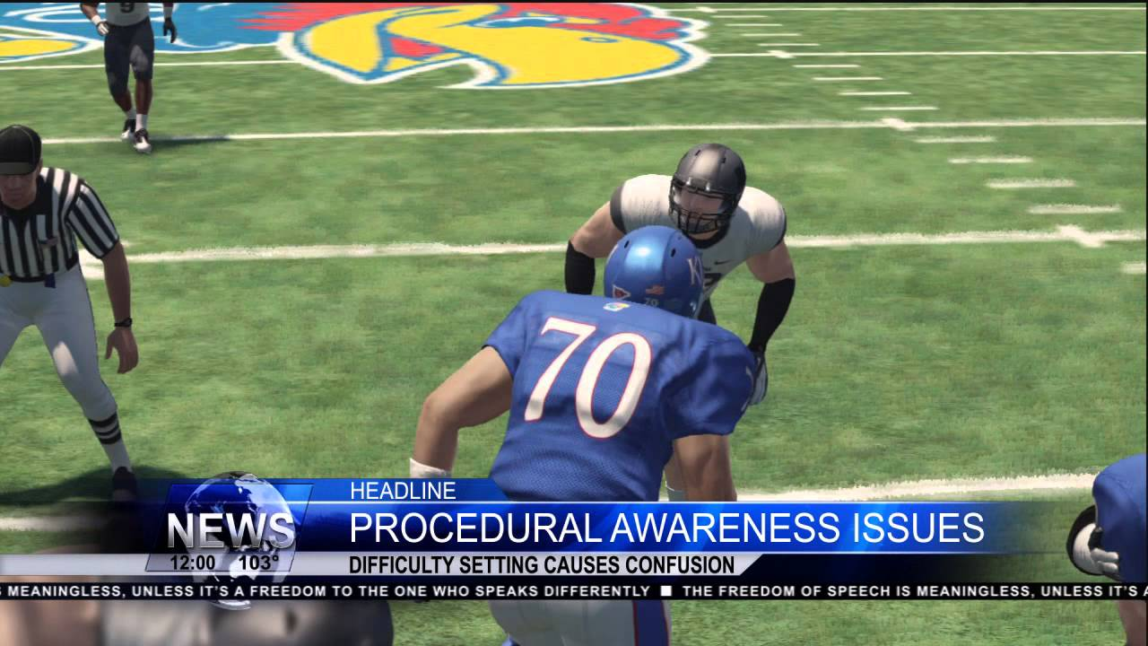 NCAA Football 14 Will Procedural Awareness Be A Problem On The Xbox One YouTube