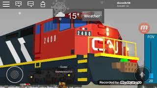 Roblox railfanning CN part 4 with 3 OIL CANS DERAILMENTS!