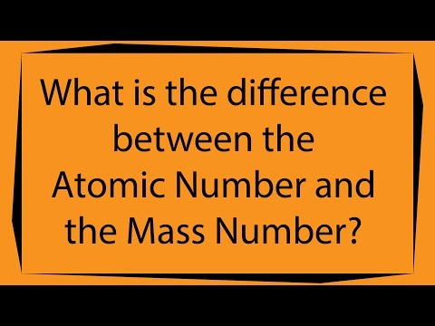 What is the difference between the Atomic Number and the Mass Number?