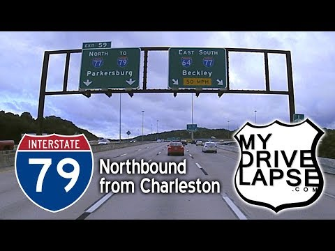 Out of Charleston on Interstate 79, Northbound – MyDrivelapse