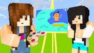 Minecraft Pixel Painters - DESENHANDO MOBS  E SURFISTA