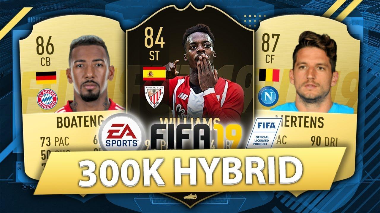 Insane 300k Hybrid W If Inaki Williams Fifa 19 Squad Builder Youtube