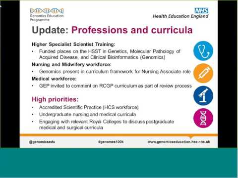 Work of Health Education England's Genomics Education Programme