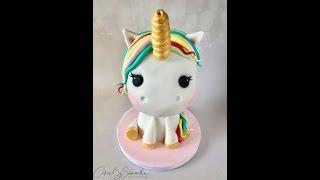 How to Make a 3D Unicorn Cake Πως να Φτιάξετε μια Τούρτα Μονόκερος