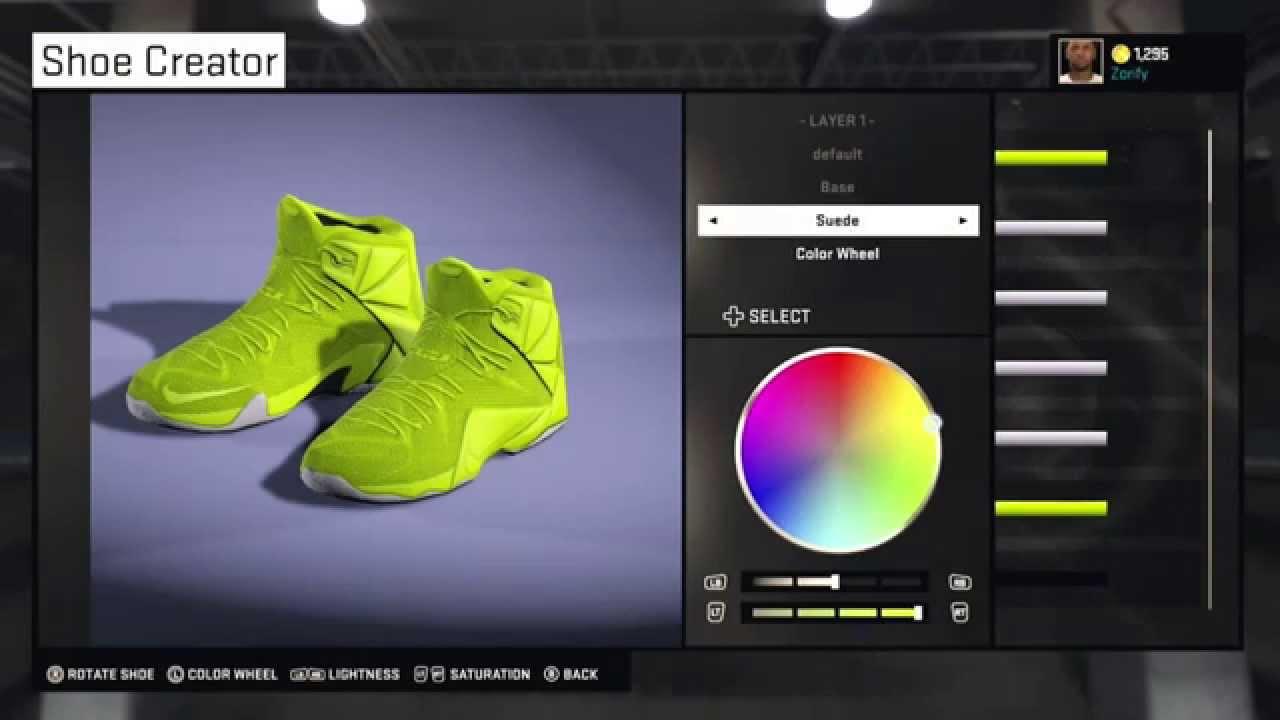 343ee326a93 NBA 2K15 Shoe Creator - Nike LeBron 12 EXT