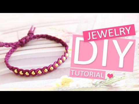 DIY Tutorial - Macramé braid & bead - Machen Sie Ihren eigenen Schmuck