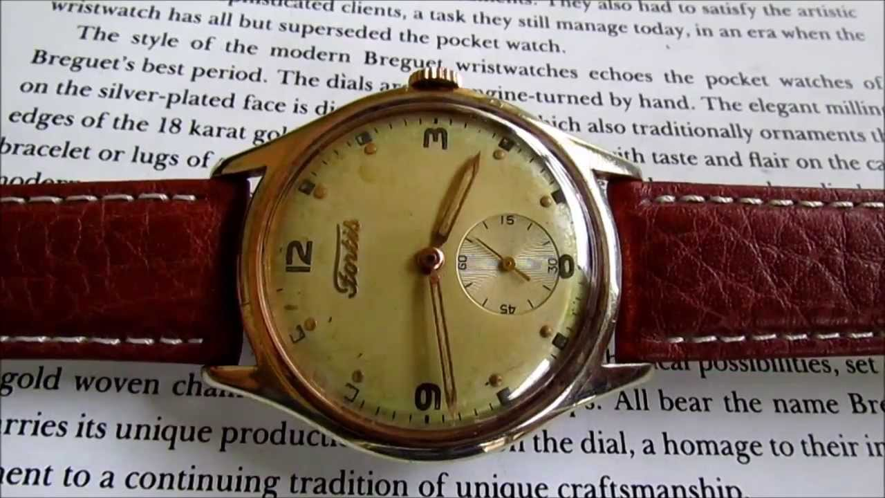 4beaaa6803e Fortis sub second vintage men s wristwatch 1950s. vintage watches