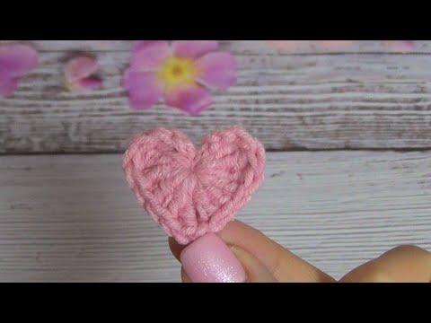 Сердечки крючком вязание
