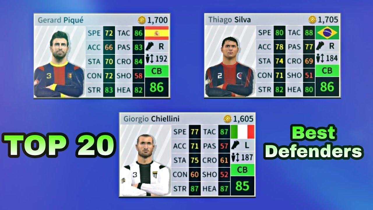 Best Defenders 2019 TOP 20 Best Defenders In Dream League Soccer 2019 ft. Silva, Pique