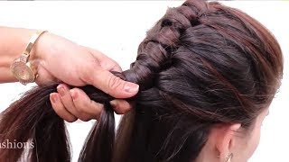 Easy Wedding Hairstyles | Puff Hairstyles | hair style girl || easy hairstyles 2018 | New hairstyles