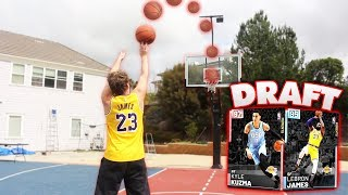 CRAZY BASKETBALL CHALLENGES DRAFT! NBA 2K19