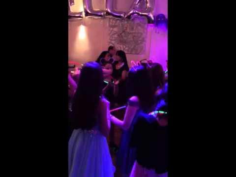 Bat mitzvah disco party