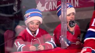 Gotta See It: Adorable fans getting pucks, Hab-in' a good time