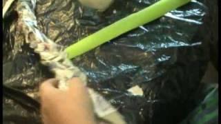 TONY WILSON Paper technogy Making Vines for Jack & Beanstalk
