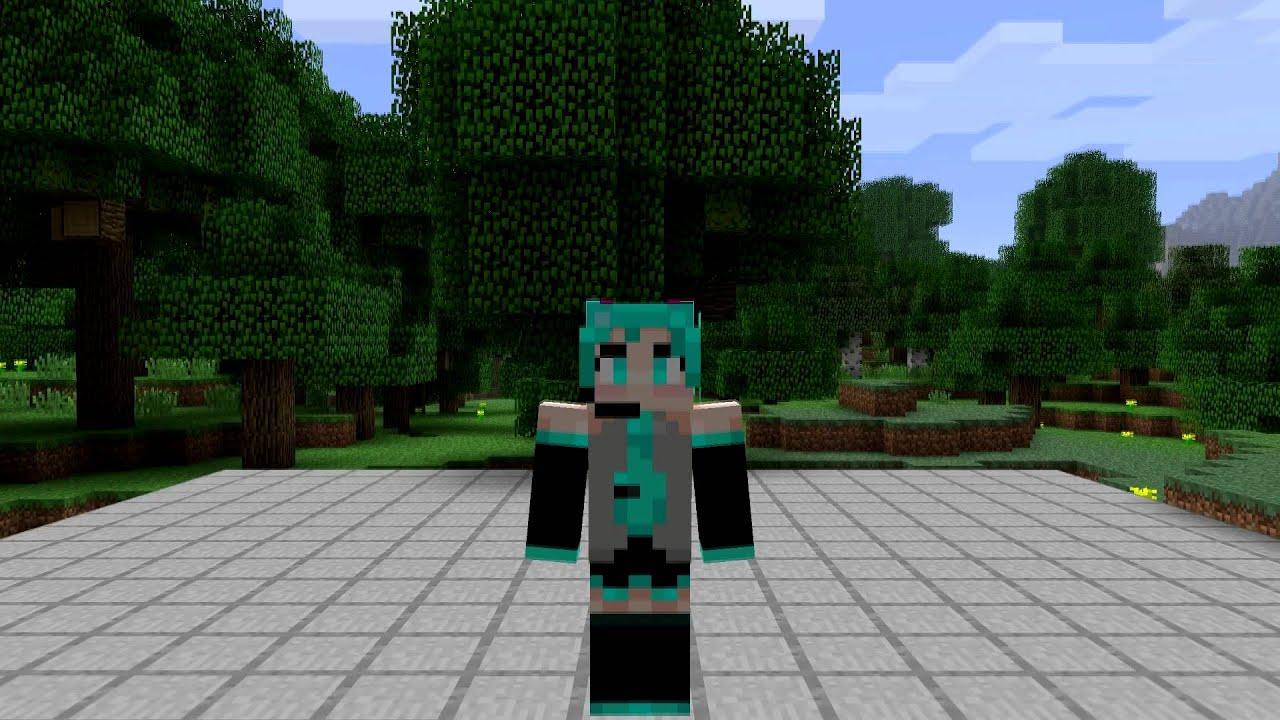 Hatsune Miku Minecraft Skin Spotlight YouTube
