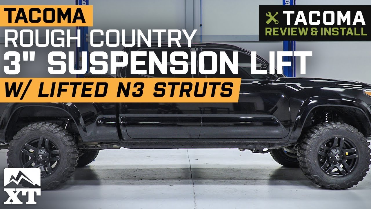 Rough Country 3 in  Suspension Lift Kit w/ Lifted N3 Struts (05-15 Tacoma  Pre-Runner