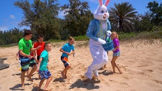 Easter Bunny found on Mystery Island! With Ninja Kidz Tv and Kids Fun