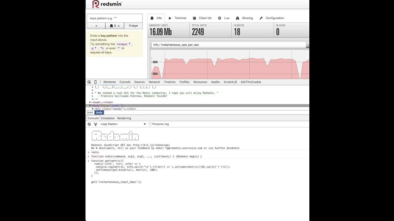 Redis JavaScript API in Redsmin