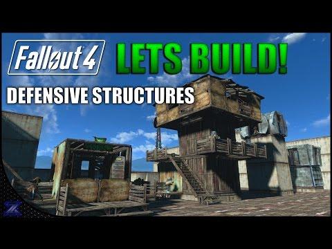 Fallout 4 - Lets Build Defensive Structures | Settlement Construction | No Mods