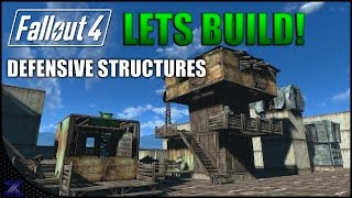 Fallout 4 - Lets Build Defensive Structures | Settlement Construction | No Mods