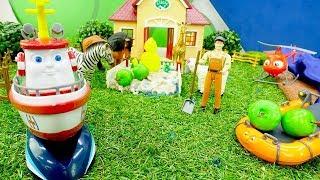 Мультики для детей. Элаяс помогает фермеру. Видео с игрушками.