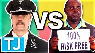 Nigerian Scammer vs Nazi - Prank Call