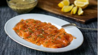 Gravlax—Swedish cured salmon with dill