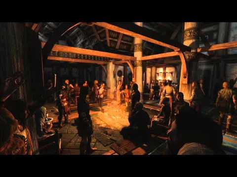 Lively Skyrim Tavern- Atmosphere ASMR