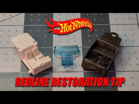 Hot Wheels Redline Restoration Tip - How to remove paint from plastic parts