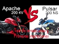 TVS APACHE 200 VS PULSAR NS200 SOLO IMPRESIONES