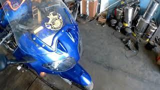 Газ на мотоцикл Yamaha FJR 1300 установка ГБО на мотоцикл Часть  2