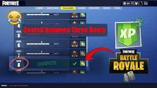 Week 8 : search between 3 boats (LOCATION) - Fortnite battle pass achievements 10 stars (Hard)