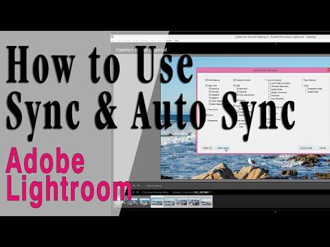 Lightroom: Copying Settings Using Sync & Auto Sync