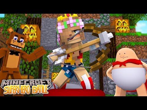 FREDDY FIGHTS WONDERWOMAN AND CAPTAIN UNDERPANTS - Minecraft Bed Wars w/ Little Kelly