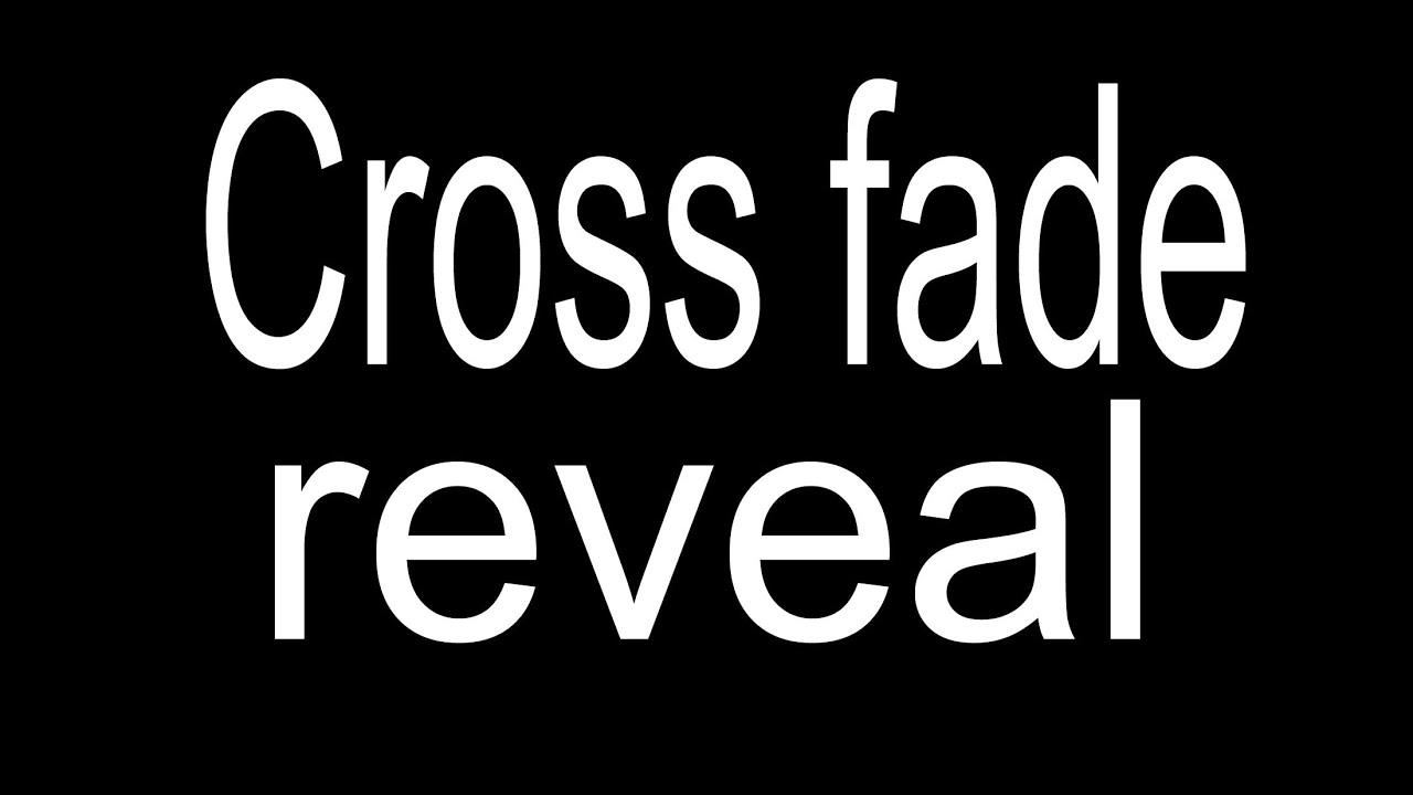 Cross fade reveal transition with  Davinci Resolve SOOO Simple