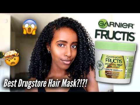 I WAS SHOOK...Garnier Fructis 1 Minute Hair Mask Review & Wash Day Routine | Natural Curly Hair