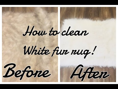 How to clean a white fur rug for $2