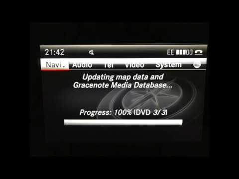 mercedes benz ntg 4.5 v15 map update including activation code - youtube