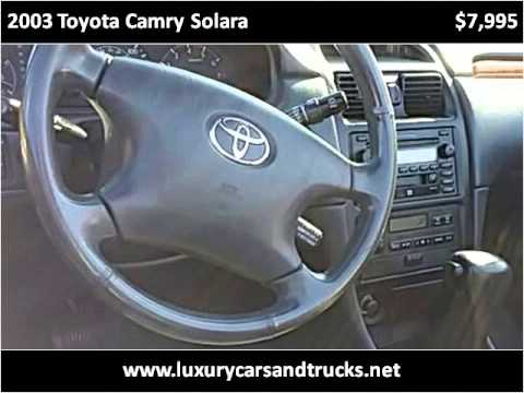 2003 toyota camry solara used cars port st lucie fl youtube. Black Bedroom Furniture Sets. Home Design Ideas