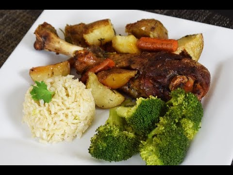 Ease Recipe Oven Roasted Turkey Legs With Vegetables,