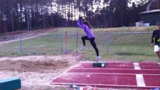 long jump - flat-flat off low box drill - 1
