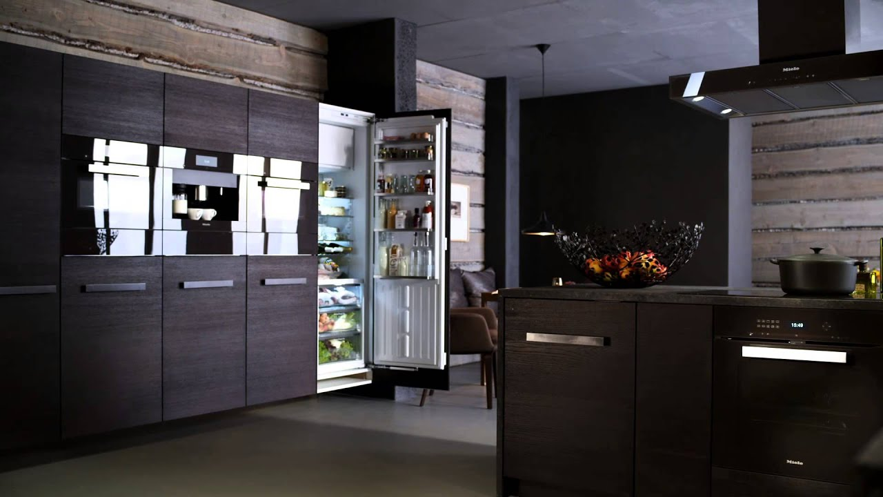 miele built in refrigeration youtube. Black Bedroom Furniture Sets. Home Design Ideas