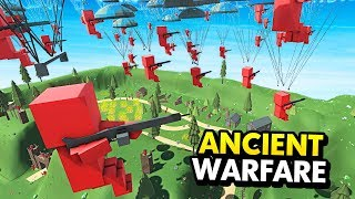 NEW PARATROOPER UNITS BEHIND D-DAY LINES (Ancient Warfare 3 Funny Gameplay)